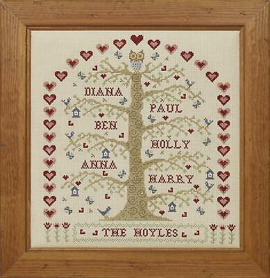 HS Counted Cross Stitch Sampler Kit – My Family Tree - Natural