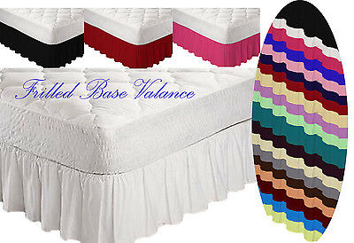 Poly Cotton Frilled Platform Base Valance Sheet All Colours & Sizes  Available