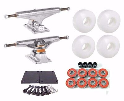 Independent 139 Stage11 Polished +52mm White Wheels Skateboard Truck Combo