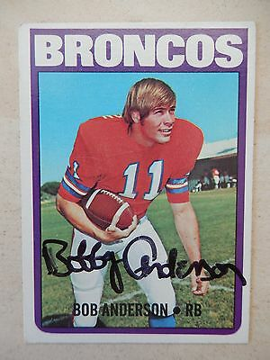Bob Anderson Autographed 1972 Topps Football Card