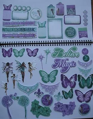 ~ Fairy Dust ~ Princess COLLECTABLES 50+ Die Cut Shapes Scrapbooking Card Making