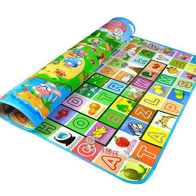 2mx1.8m Double Sides Kid Kids Baby Child Playing Play Floor Mat Animals Undersea