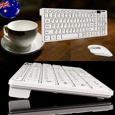 2.4G Optical Wireless Keyboard and Mouse USB Receiver Kit For PC Desktop AU