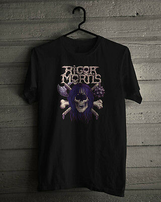 Brand New Rigor Mortis Speed Metal Band Cotton Black T-Shirt S-5XL
