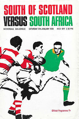 1970 - South of Scotland v South Africa, Touring Programme.
