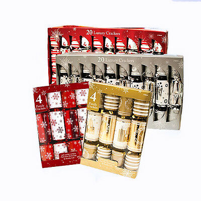 Luxury Christmas Family Crackers Party Xmas Selection 4 Pack 20 Pack Cracker