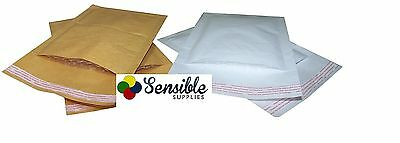 Padded Envelopes / Bags - White & Gold - Premium High Quality - All Sizes