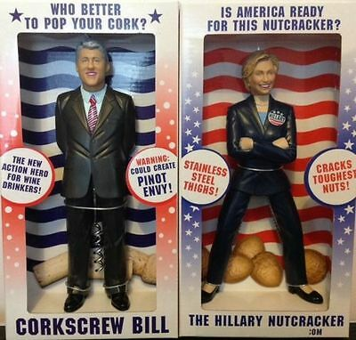 Hillary Nutcracker and Bill Clinton Corkscrew The Perfect White Elephant Gift