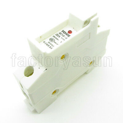 Din Rail 1 Pole 32A Fuse Holder For 10mm x 38mm With Indicator Light RT18-32
