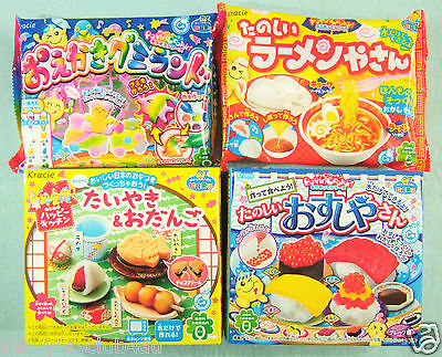 NEW 4 PCS SET Kracie popin cookin JAPANESE CANDY MAKING KIT sushi gummy Ramen
