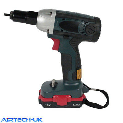 Multi Function Cordless Electric Nut Riveter with Li-ion Battery 18V 3.0Ah