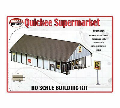 MODEL POWER HO SCALE BUILDING KIT - Quickee Supermarket - NEW 621