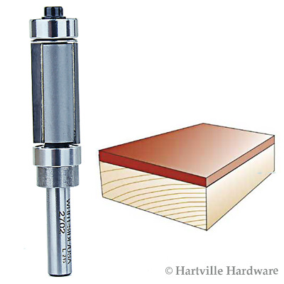Whiteside #2702 Combination Flush Trim Router Bit with Top and Bottom Bearings