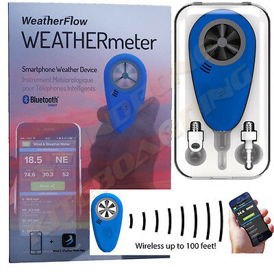 WeatherFlow WeatherMeter Wireless Anemometer Cell Smart Phone iPhone Android