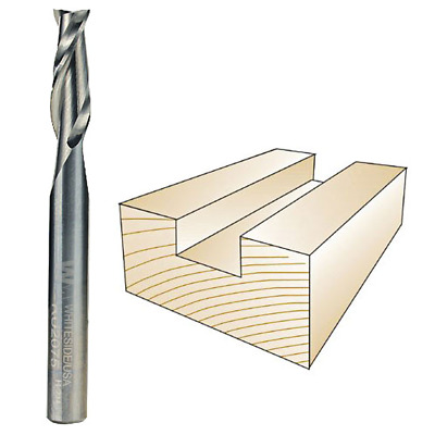 Whiteside #RU2075 Solid Carbide Two Flute Up Cut Standard Spiral Router Bit