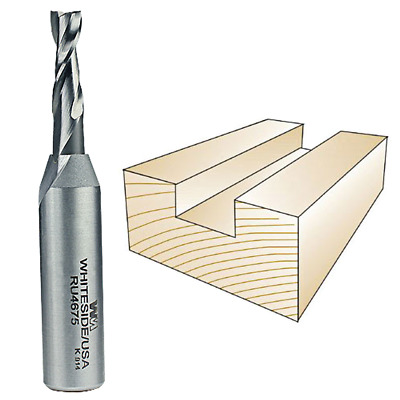 Whiteside #RU4675 Solid Carbide Two Flute Up Cut Standard Spiral Router Bit