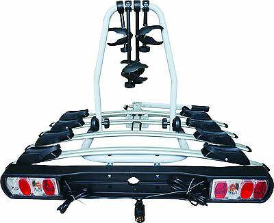 Car & 4x4 Tow Ball 60kg 4 Bike Bicycle Travel Rack Cycle Carrier -Life Guarantee
