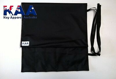 BUTCHERS/CHEFS Black Water Resistant Knife Roll/Wrap  *MADE IN KINGAROY QLD*