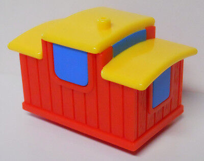 VINTAGE! 1992 Fisher Price Flip Track Replacement Part-Red Caboose