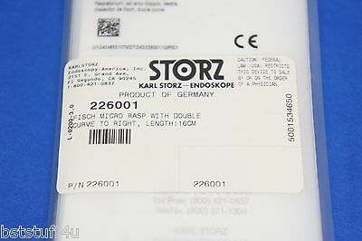 Karl Storz 226001 Fisch Micro Rasp With Double Curve To Right Length 16cm