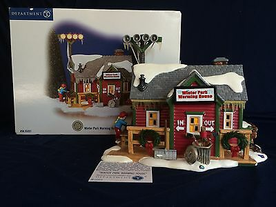 Department 56 Snow Village Winter Park Warming House Limited Edition