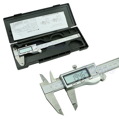 Stainless Steel 150mm 6inch Electronic Digital Vernier Caliper Micrometer Guage