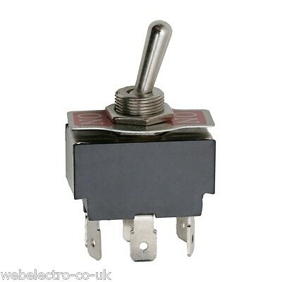 09017 Heavy Duty 6P DPDT 2 Positions ON-ON Toggle Switch 10A 250V Spade Terminal