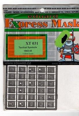 Eduard Xt 031 - Express Mask Mascherature Easy Painting 1/35 - Tactical Symbols