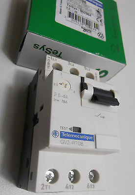 Telemecanique GV2-RT08  MOTOR CIRCUIT BREAKER 2,5A-4A  GV2RT08