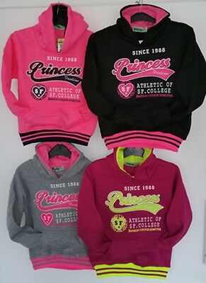 Girls Kids Winter Hooded Hoodies Jumper Sweater Top Jacket Shirt Fleece New Warm