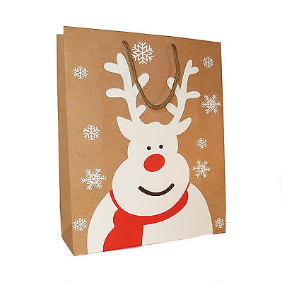 **new** Christmas Gift Bags - Paper - Small Medium Large Wholesale - 12 Pack
