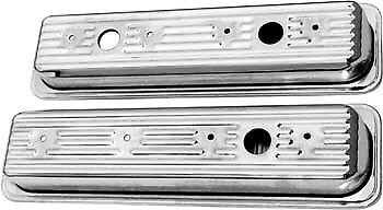 Bandit Accessories Valve Cover Set 9702; Chrome Steel for 1987-Up Chevy 305//350