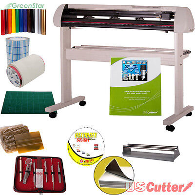"53"" Vinyl Cutter BUNDLE Sign Contour Cutting Machine w/Design & Cut Software"