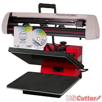 "25"" Vinyl Cutter + 15""x15"" Heat Press COMBO - Decal/Sign/Tshirt Making BUSINESS"