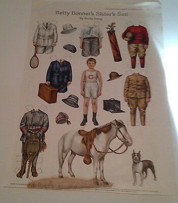 Betty Bonnet's Sister's Son Paper Doll - Ladies Home Journal  Jan 1917 -Original