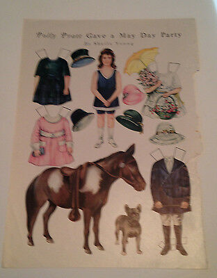 Polly Pratt Gives A May Day Party Paper Doll - 1920's Magazine Original