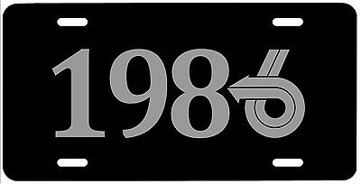 1986 BUICK V6 STEEL LICENSE PLATE, SILVER ON BLACK grand national t type gn