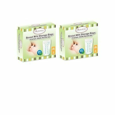 ZIP LOCK BREAST MILK STORAGE BAG 310ml / 12 oz BPA FREE (50 BAGS)