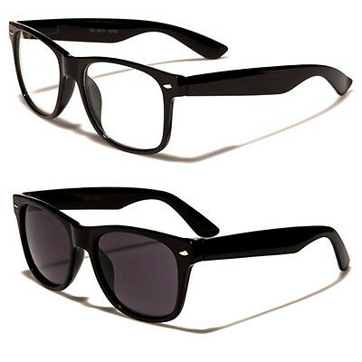 Kids Black & Clear Lens Sunglasses Full UV400 Protection - 4 - 10 Yrs