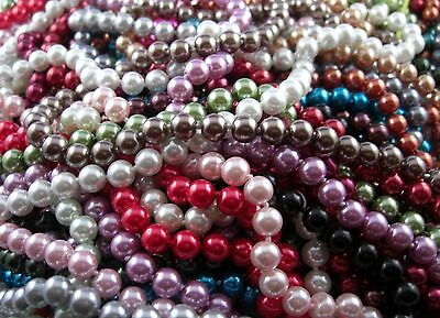 Bead chain long im Art Deco Style Artful Shimmering Pearls Great Color selection