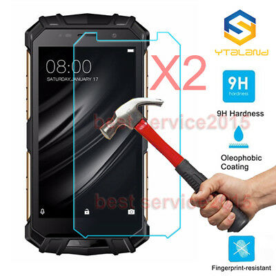 2Pcs 9H+ Premium Tempered Glass Screen Protector Film For Doogee S60 S60 Lite
