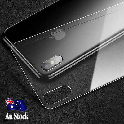 Back Rear Tempered Glass Screen Protector Apple iPhone X XS SE 5S 6 6S 7 8 Plus