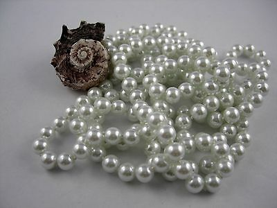 Bead chain extra long 168- 170 cm in Art Deco Style classy pearl Color selection