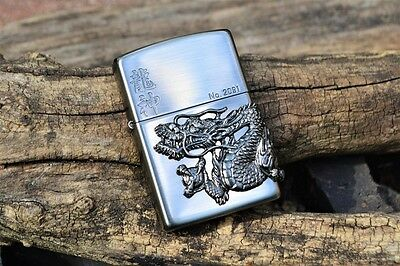 Japanese Zippo Lighter - Japan - Ryujin Dragon God - Limited Edition - 200DM AN