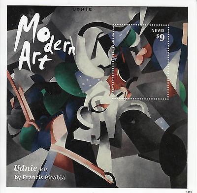 Nevis 2014 MNH Modern Art 1v S/S Paintings Udnie Francis Picabia 1913