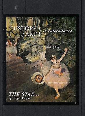 Palau 2013 MNH History of Art Impressionism 1v S/S Edgar Degas The Star Painting
