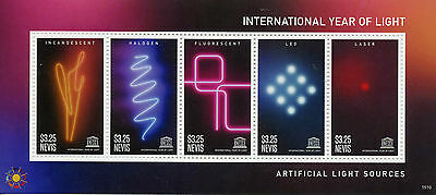 Nevis 2015 MNH UNESCO International Year of Light 6v M/S Science LED Laser