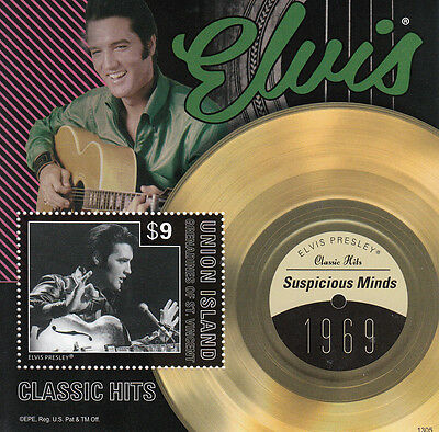 Union Island Grenadines St Vincent 2013 MNH Elvis Presley Classic Hits III 1v SS