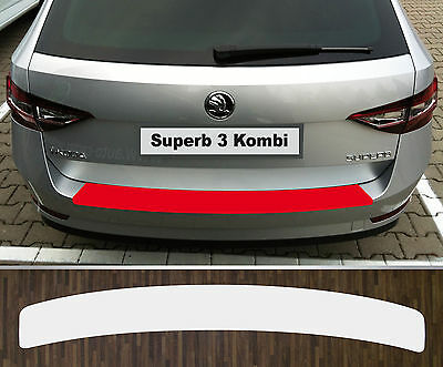 clear protective foil bumper transparent Skoda Superb 3 station wagon from 2015