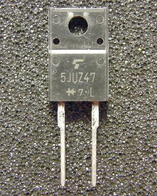 5x 5JUZ47 Super Fast Recovery Diode 600V 5A, Toshiba